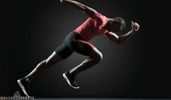 Male Sprinter Using Athlete Training to Elevate Athletic Performance