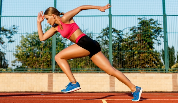 Female Sprinter Speed Athlete Training for Athletic Performance